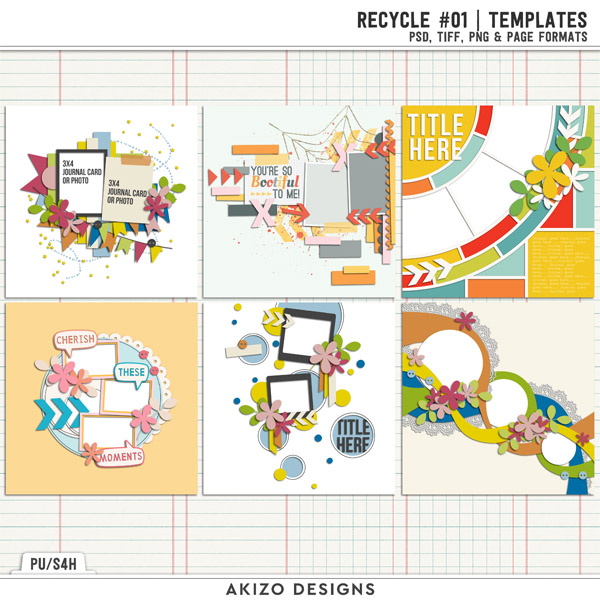 Recycle 01 | Templates by Akizo Designs