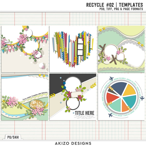 Recycle 02 | Templates by Akizo Designs