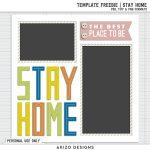 Template Freebie | Stay Home