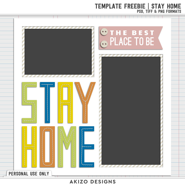 Template Freebie | Stay Home by Akizo Designs