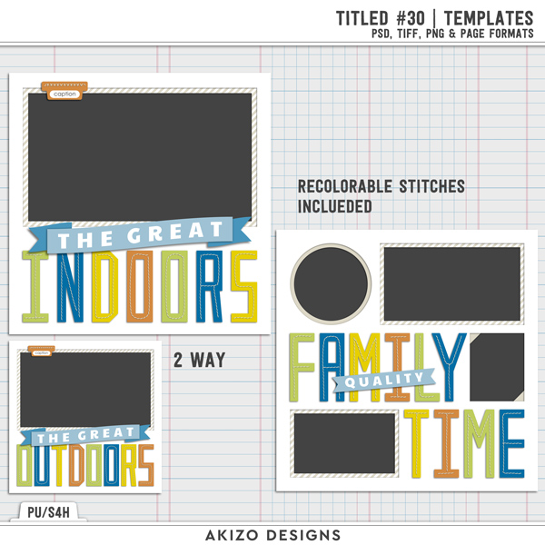 Titled 30 | Templates by Akizo Designs