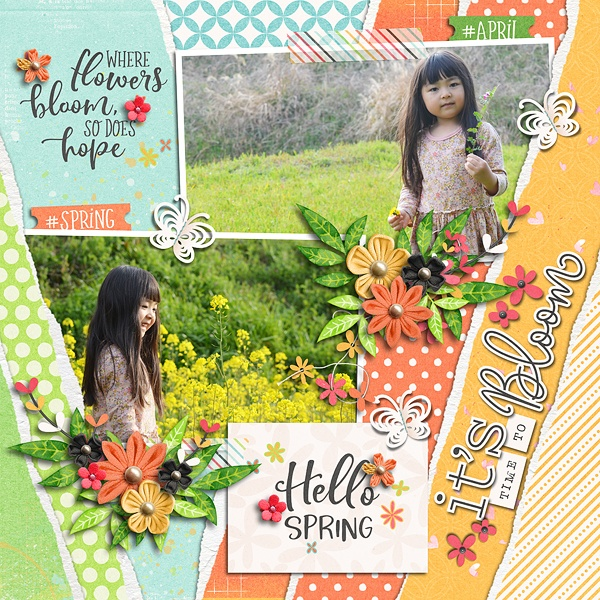 Layout Sample of Torn Paper Play 07 | Templates