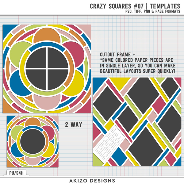 Crazy Squares 07 | Templates by Akizo Designs