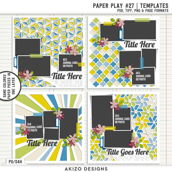 Paper Play 27 | Templates by Akizo Designs