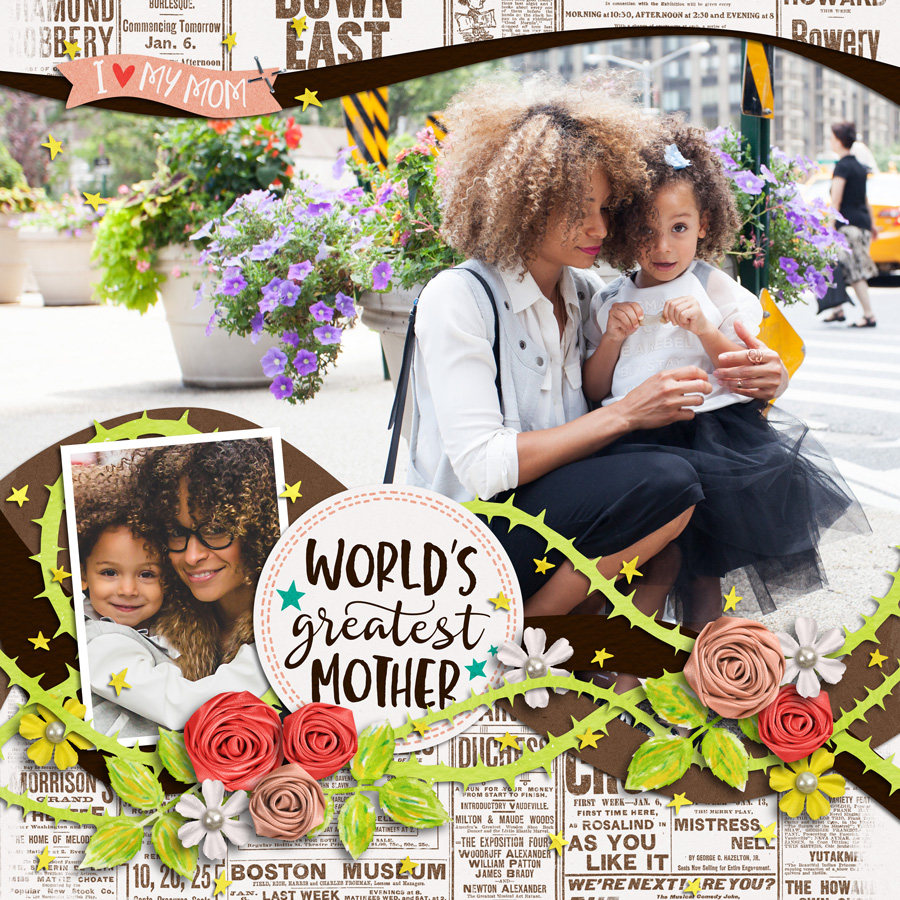 Layout Sample of Love My Mom | Wordbits