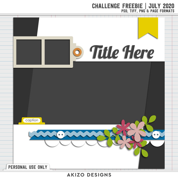 Template Challenge July 2020 by Akizo Designs