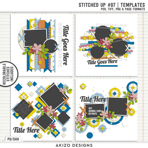Stitched Up 07 | Templates by Akizo Designs