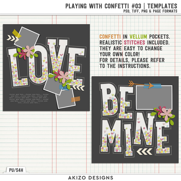 Playing With Confetti 03 | Templates by Akizo Designs