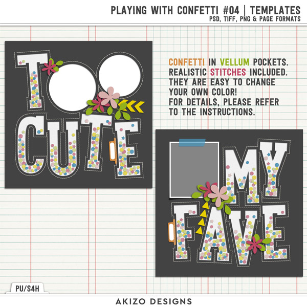 Playing With Confetti 04 | Templates by Akizo Designs