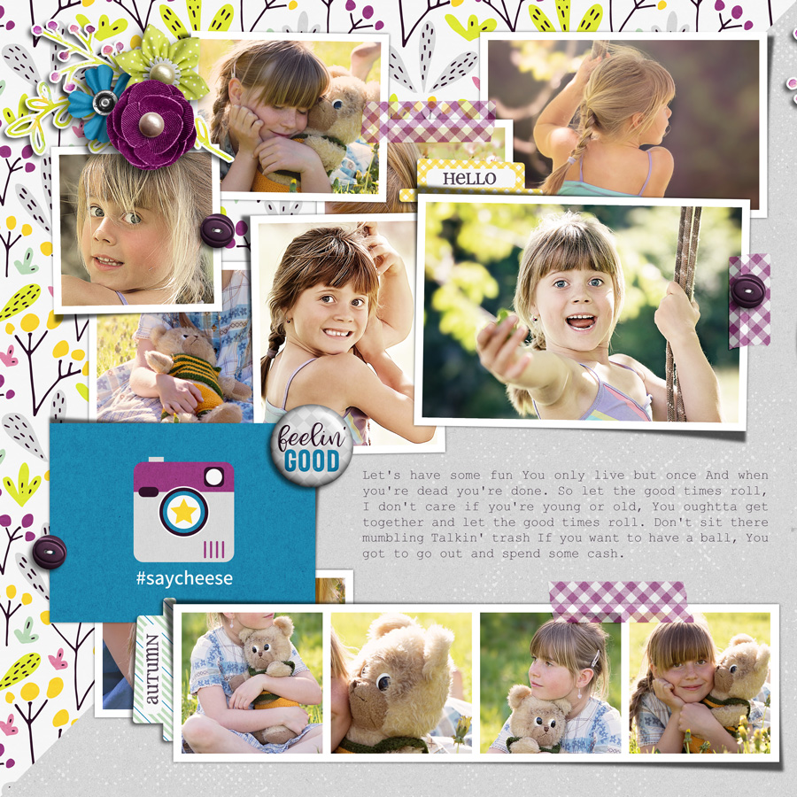 Layout Sample of Good Times Roll | Journal Cards