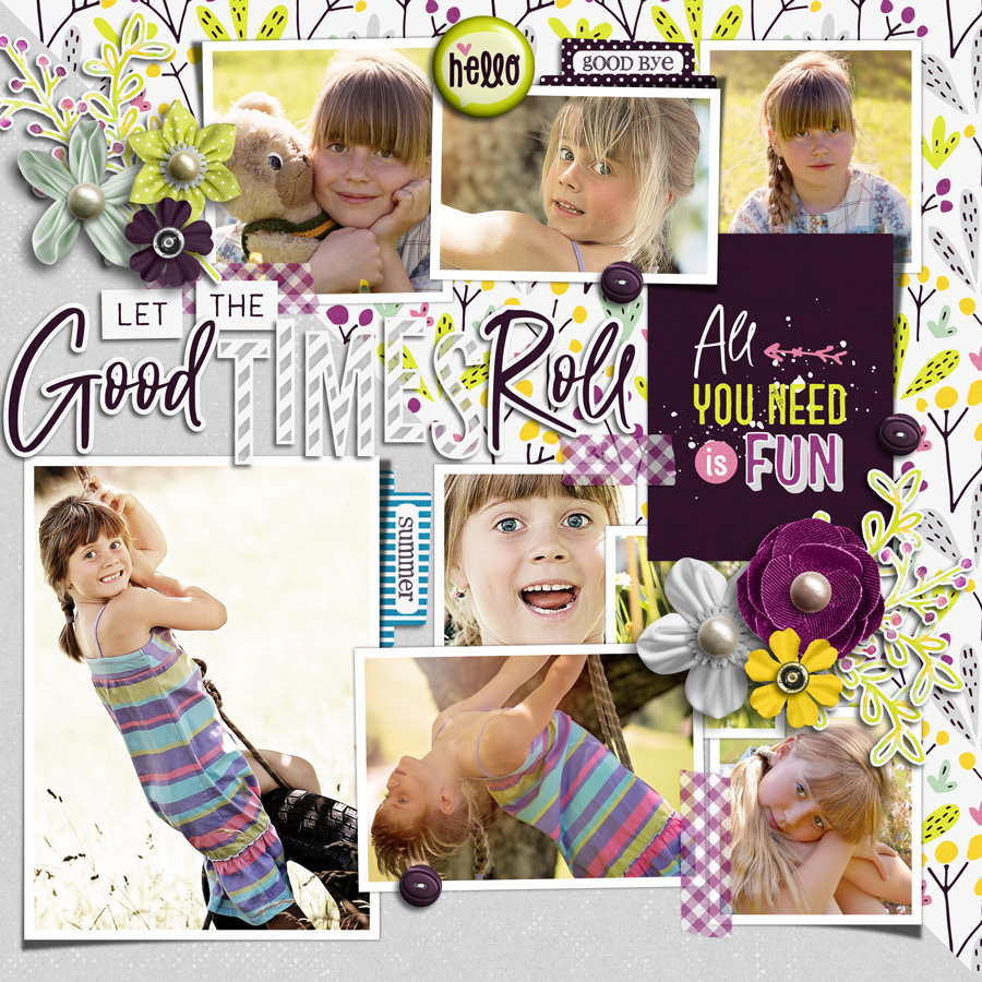 Layout Sample of Good Times Roll | Title Arts
