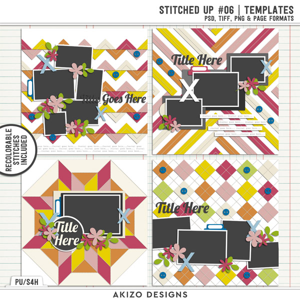 Stitched Up 06   Templates by Akizo Designs