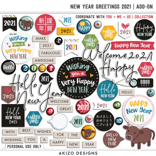 New Year Greetings 2021 Add-on