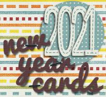 2021年・令和3年・丑年の年賀状