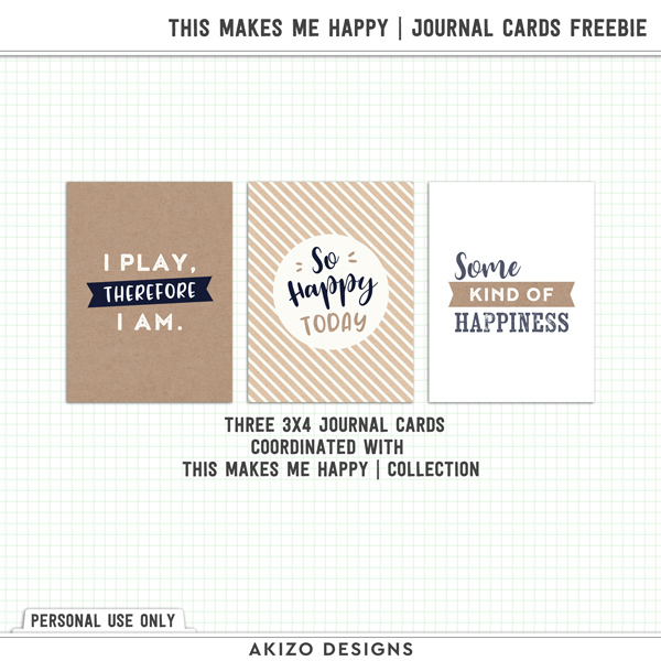 This Makes Me Happy Journal Cards Freebie