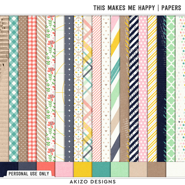 This Makes Me Happy | Papers by Akizo Designs