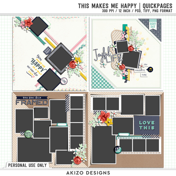 This Makes Me Happy | Quickpages by Akizo Designs