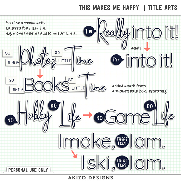 This Makes Me Happy | Title Arts by Akizo Designs