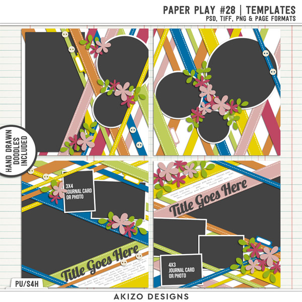 Paper Play 28 | Templates by Akizo Designs