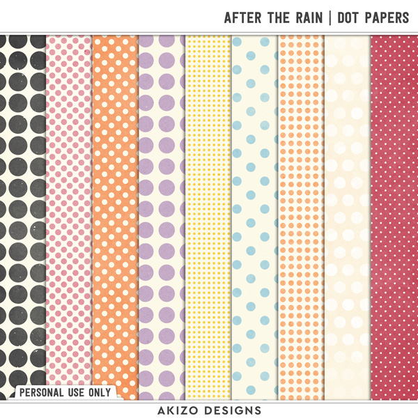 After The Rain | Dot Papers by Akizo Designs