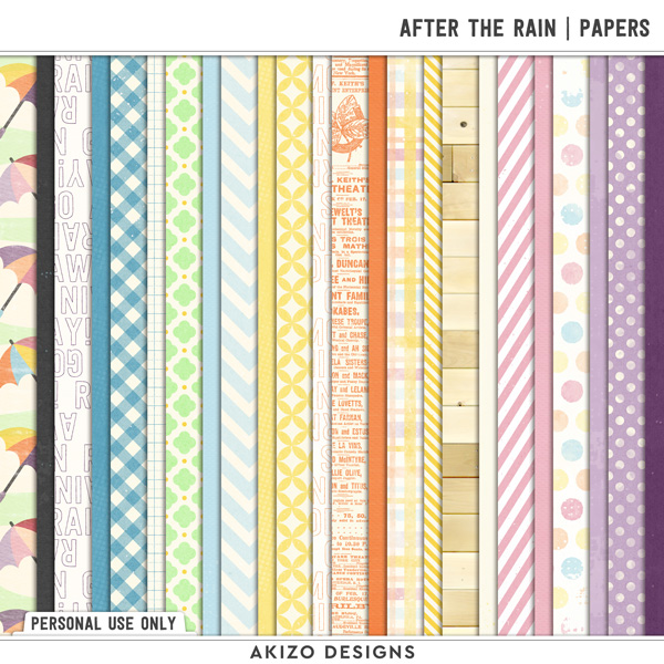 After The Rain | Papers by Akizo Designs