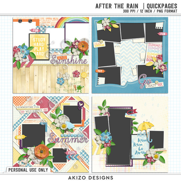 After The Rain | Quickpages by Akizo Designs