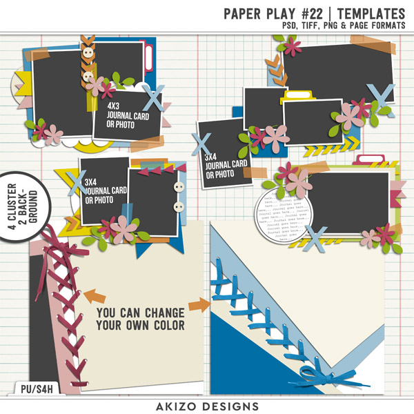 Paper Play 22 | Templates by Akizo Designs
