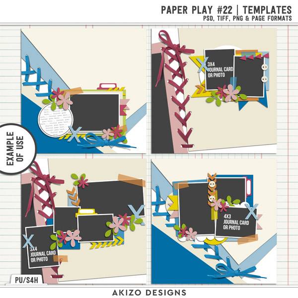 Example of use of Paper Play 22   Templates