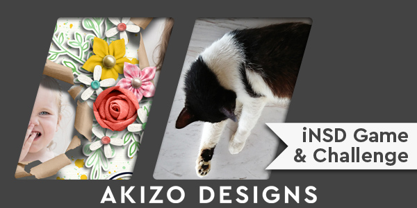 iNSD Game And Challenge | Akizo Designs | Digital Scrapbooking
