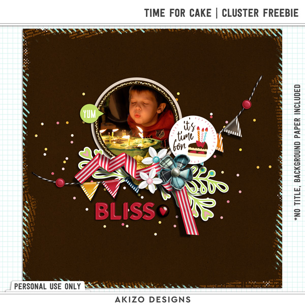 Time For Cake Cluster Freebie