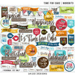 $1 Sale – Time For Cake | Wordbits – Quickpages