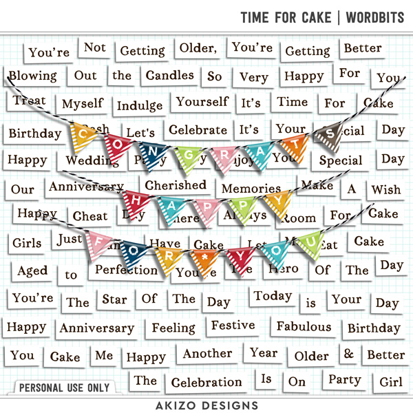 Time For Cake | Wordbits