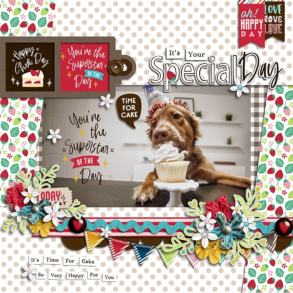 Layout Sample of Time For Cake | Collection