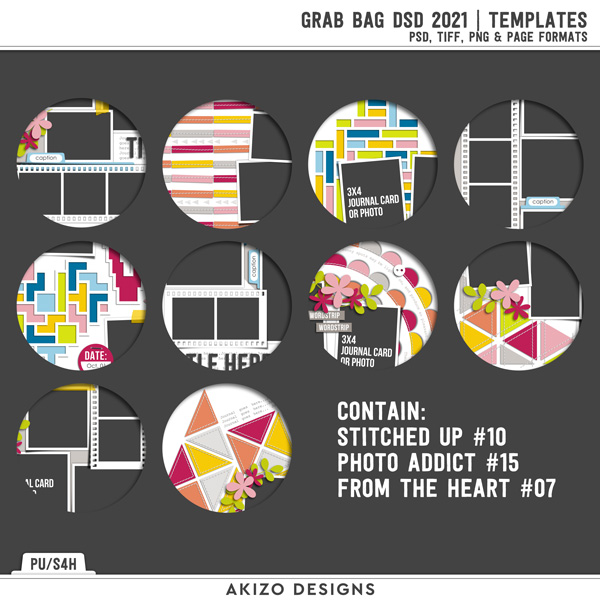 Grab Bag DSD 2021 | Templates by Akizo Designs