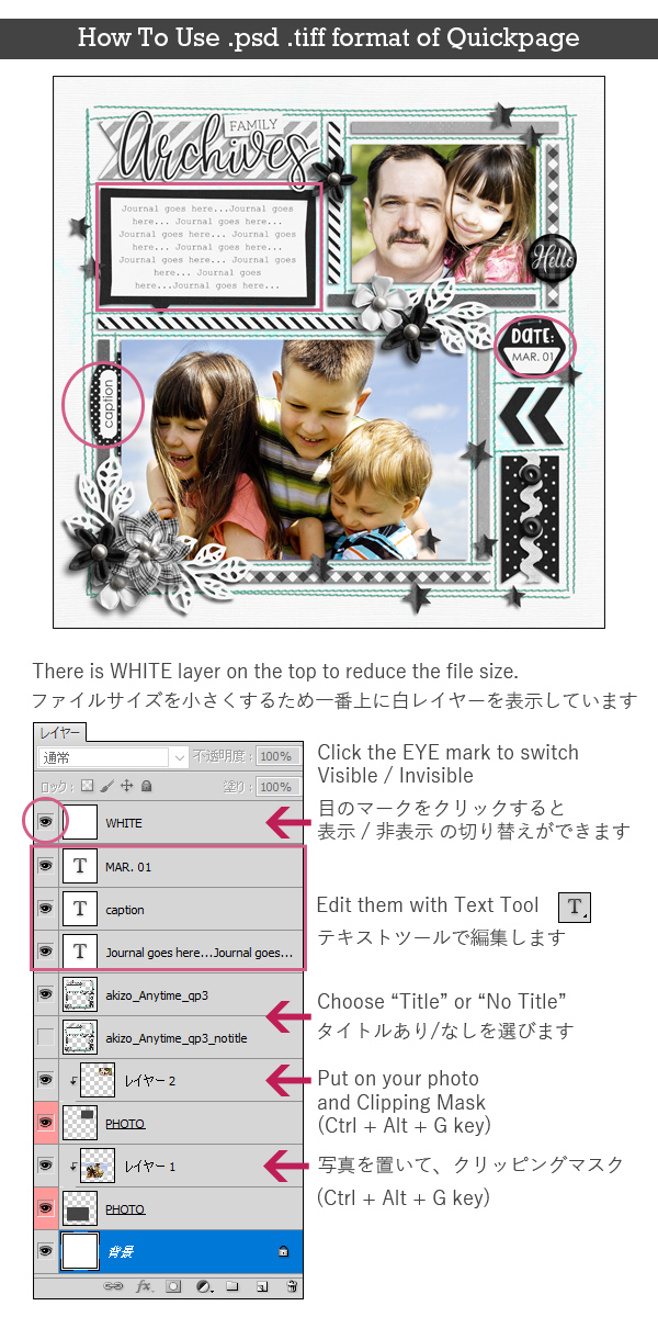 How To Use .psd . tiff format