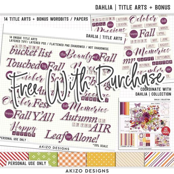 Dahlia   Title Arts by Akizo Designs