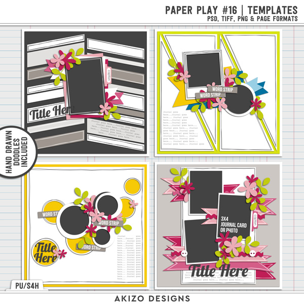 Paper Play 16 | Templates by Akizo Designs