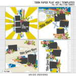 New – Torn Paper Play #03   Templates